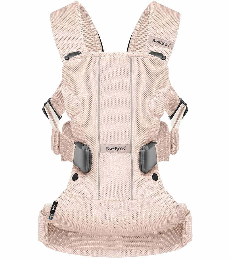 Babybjorn Baby Carrier One Air Powder Pink Mesh Baby Bjorn Carrier Baby Bjorn Ergonomic Baby Carrier