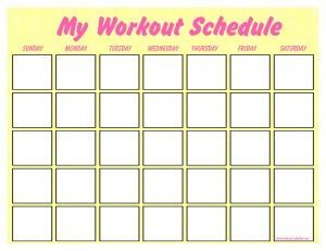Fill In Yourself Work Out Calender I Put Mine In A Plastic Sheet