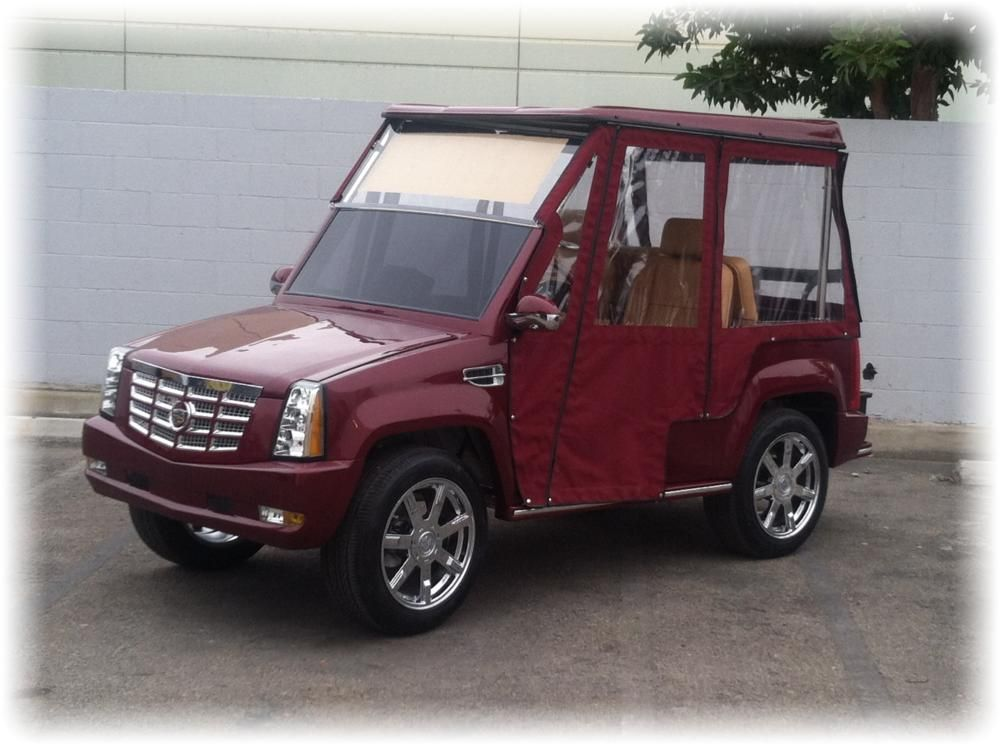 Escalade Golf Cart >> Cool Custom Golf Cart W Cadillac Escalade Body Kit Tricked Out