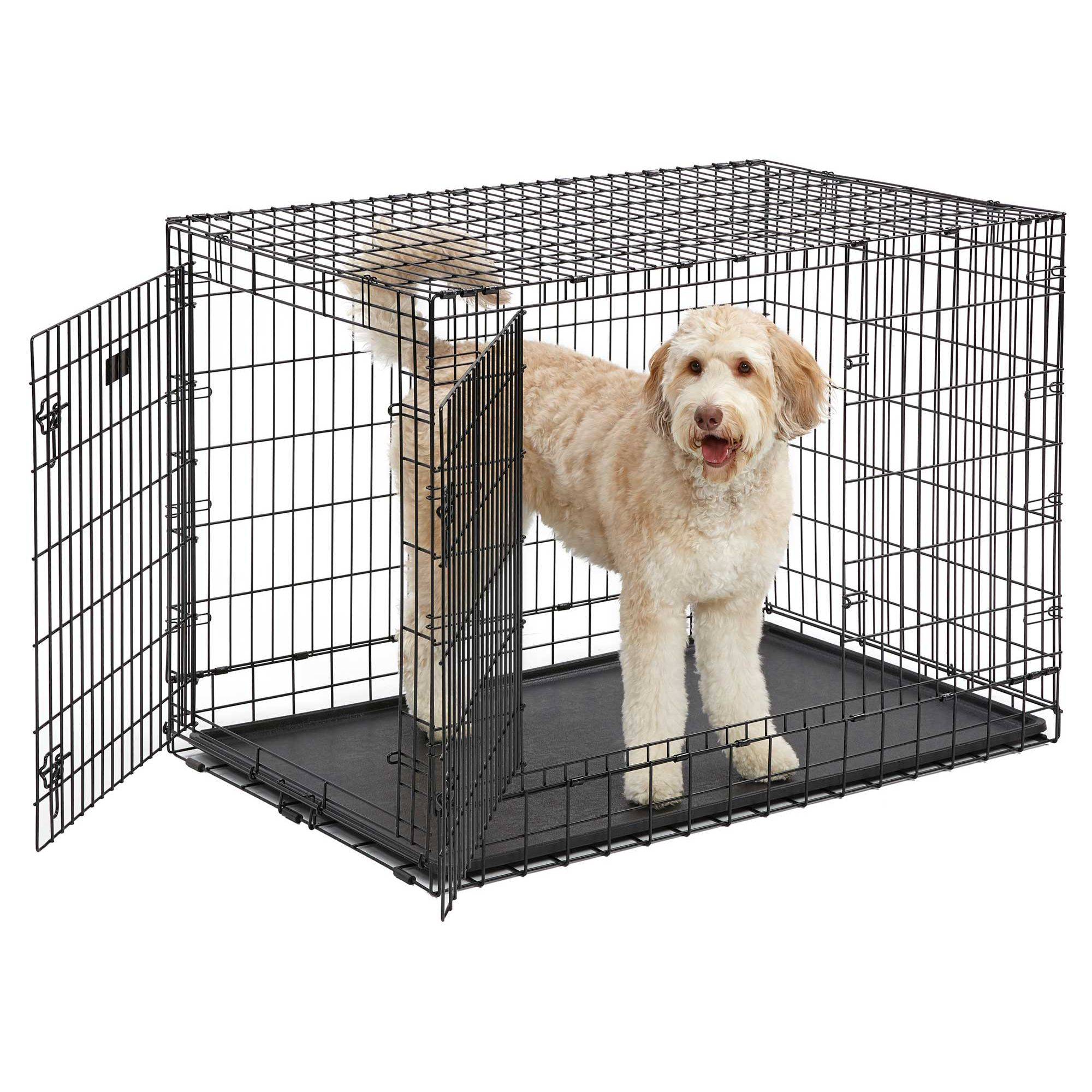 Midwest Ultima Pro Double Door Dog Crate Size 49 L X 3w X 35 H Black Large Dog Crate Dog Crate Midwest Dog Crates