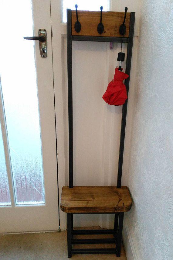 Narrow Coat Stand Hallway Bijou Coat Rack With Seat And