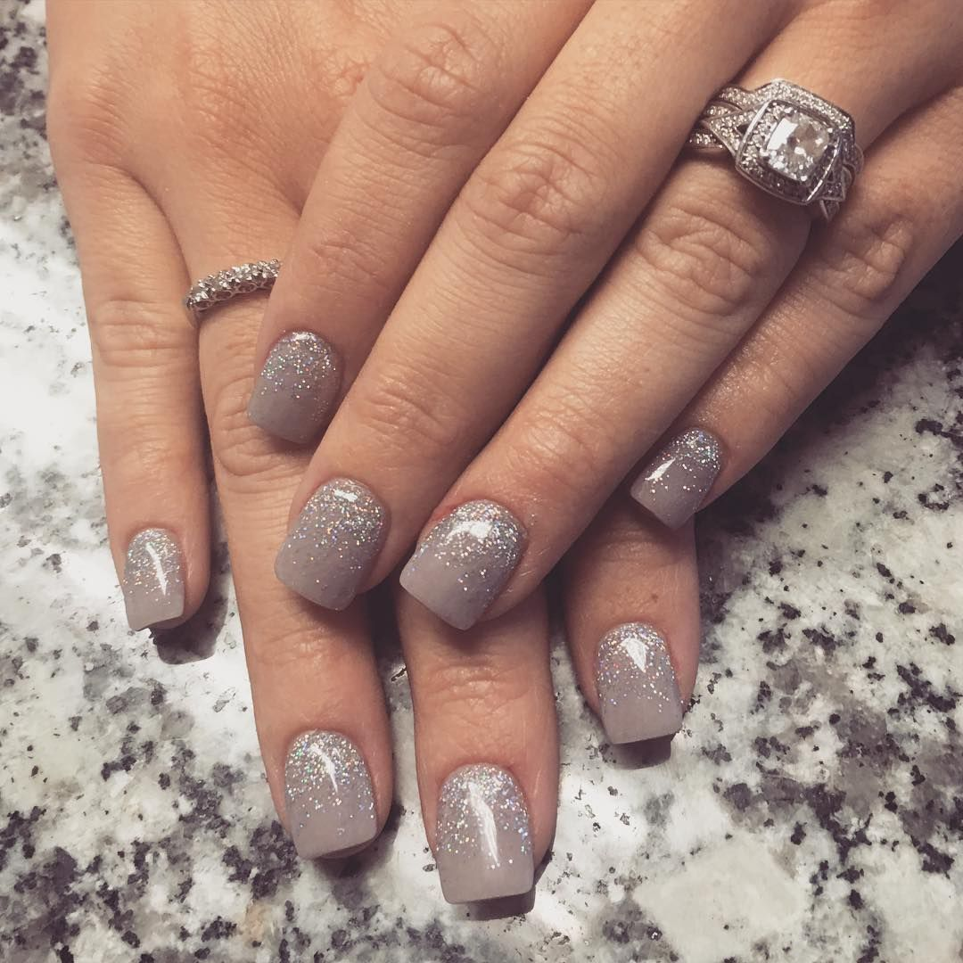 Taupe ombré #glitter #glitternails #taupe #ombre #ombrenails #nails ...