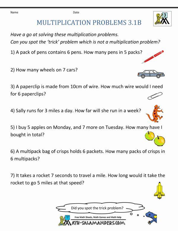 8 3Rd Grade Math Word Problems Printable Worksheets