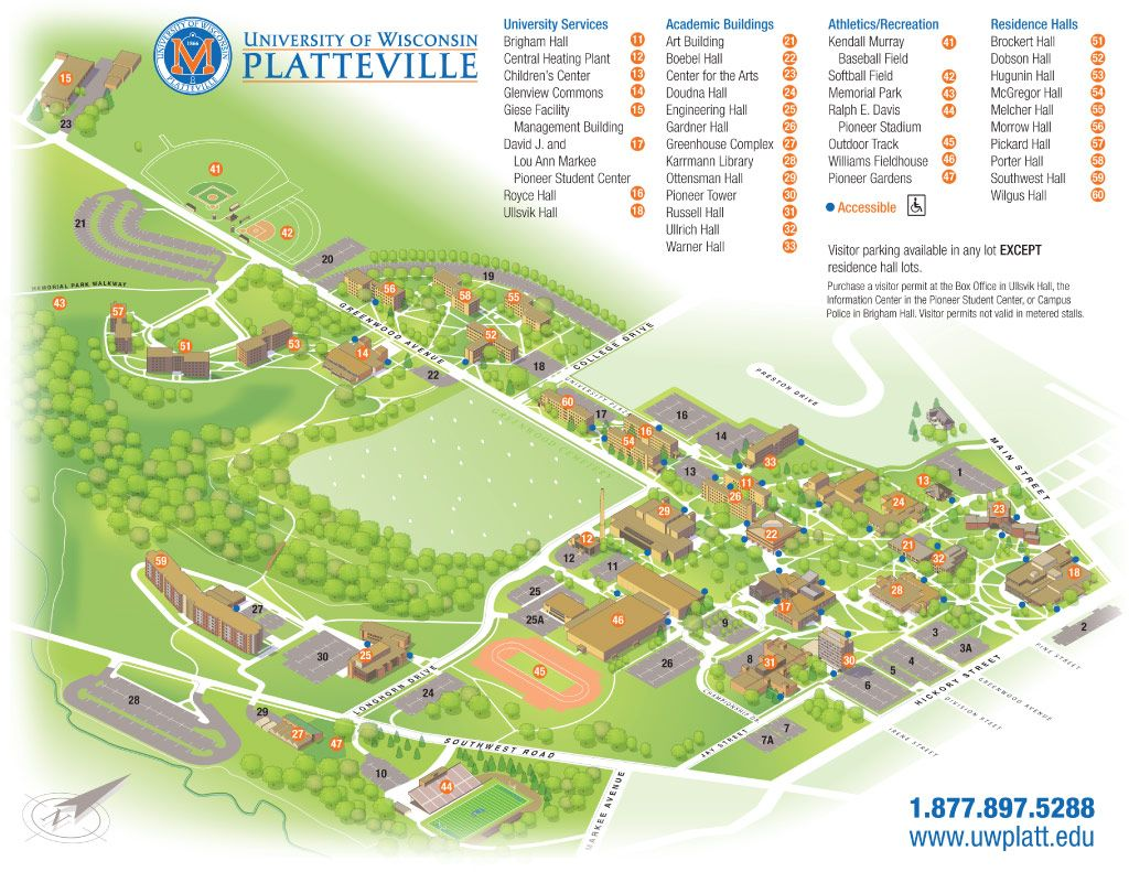 Uw Platteville Campus Map Campus Life Pinterest Campus Map