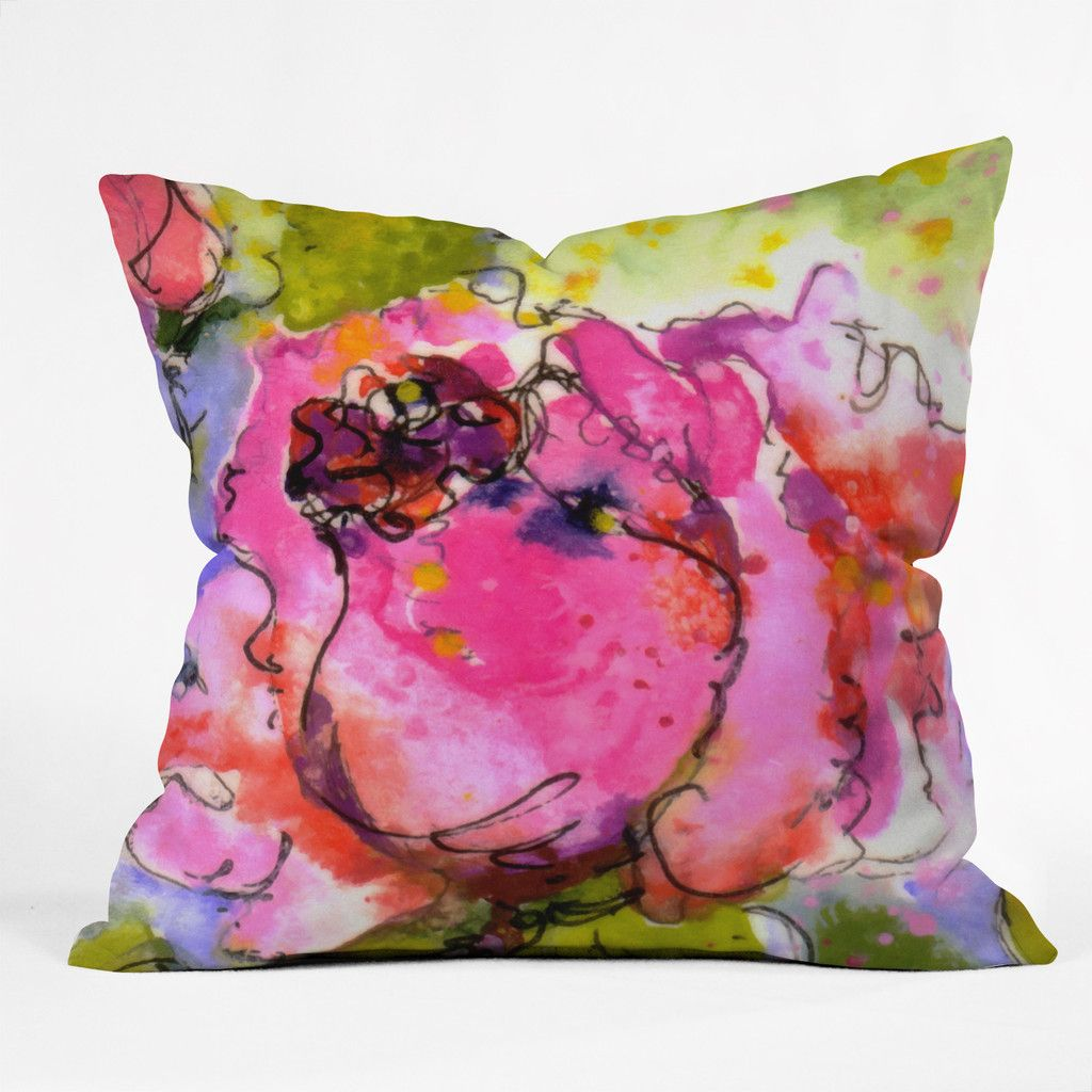 Rose Bud Throw Pillow ~ $35.00 at denydesigns.com