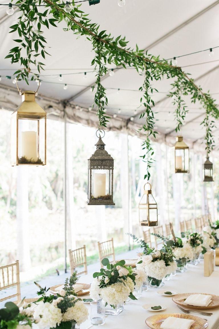 Simple wedding decoration ideas for reception   Amazing Palm Centerpiece Hacks  Centerpieces Beach weddings