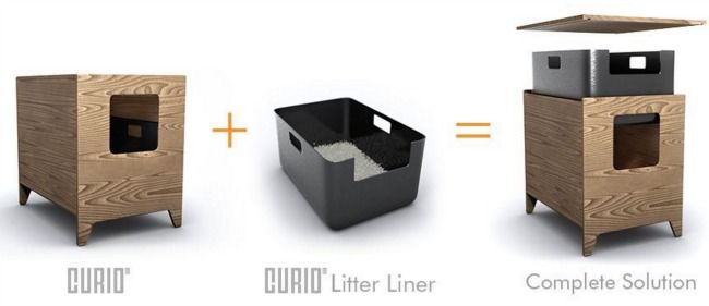 Curio Craft Cat Litter Box, It Looks Like Furniture!