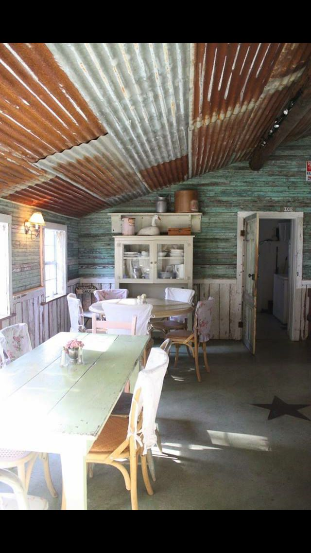 Ceiling Rustic Kitchen Barn Tin Tin Ceiling