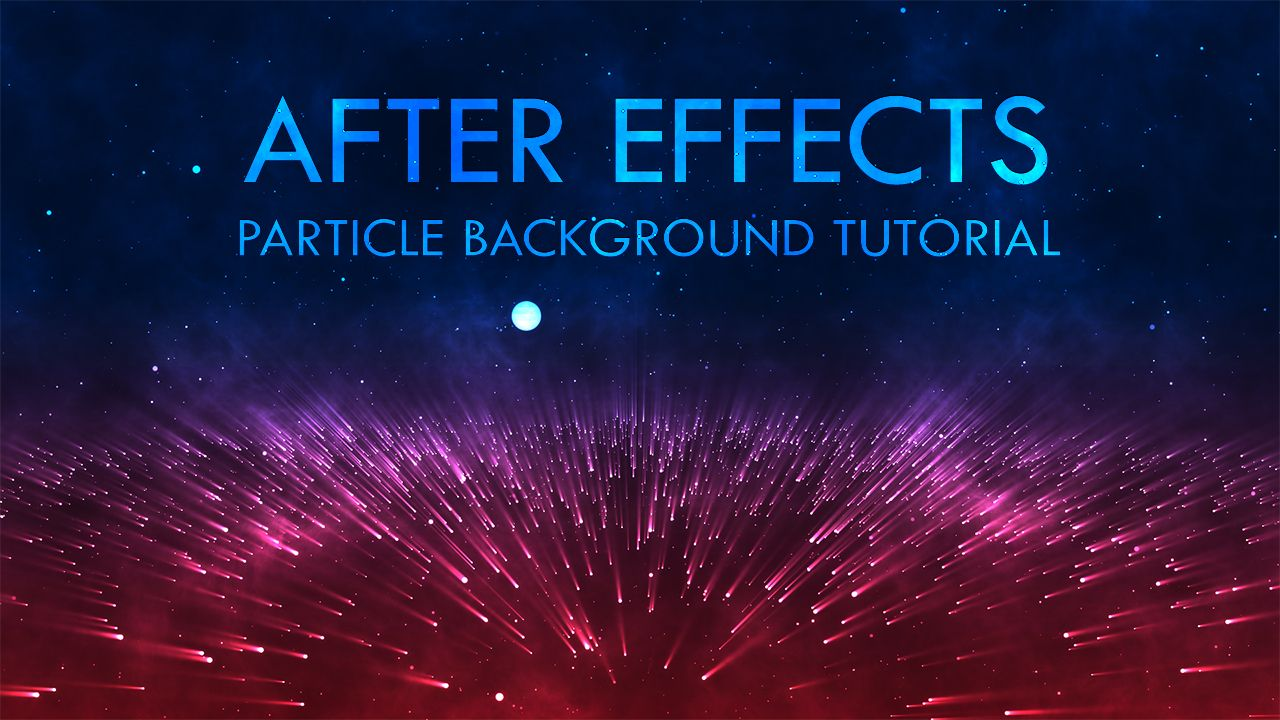 In This After Effect Tutorial Video I Created Particle Animation