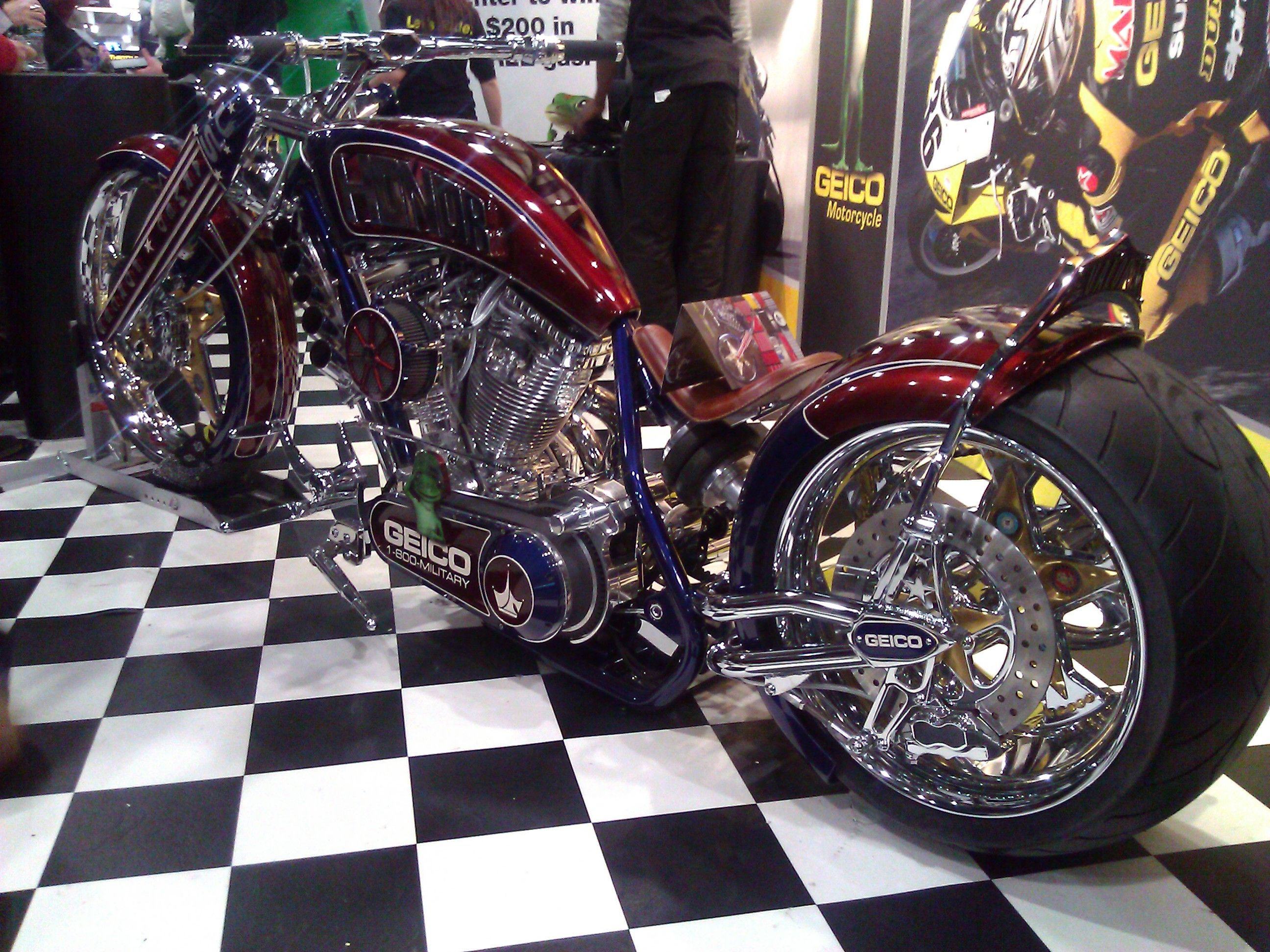 Geico Inspired Custom Design Motorcycle Chopper Photo 2