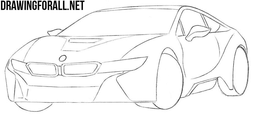 How To Draw A Bmw I8 Step By Step Bmw I8 Bmw Art Car Artwork