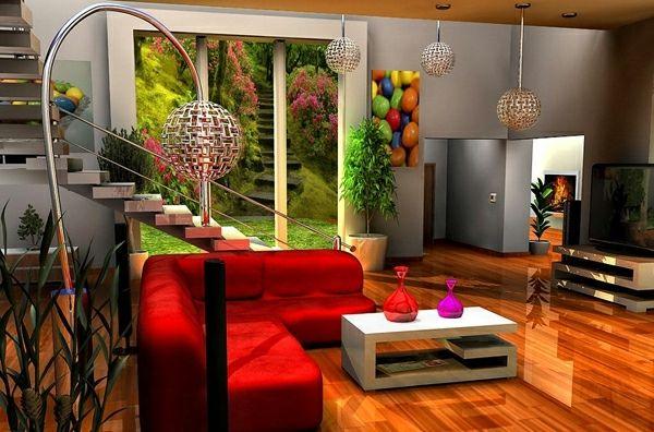 20 Ideen für beeindruckende Wohnzimmer Dekoration - http - wohnzimmer gestalten rot