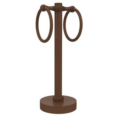 Allied Brass 2 Ring Guest Countertop Towel Stand Guest Towels