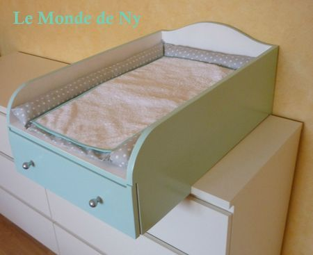 Table à langer pour commode Malm IKEA | Kid things | Baby bedroom ...
