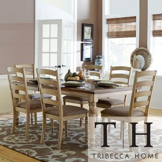 TRIBECCA HOME Carlingford Buttermilk 7 Piece Country Dining Set |  Overstock.com Shopping
