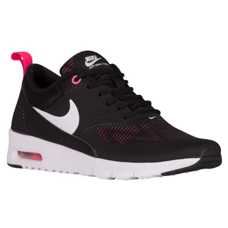 costo de descuento tumblr venta barata Nike Air Max Thea - Niñas De Escuela Primaria Negro / Voltio / Rosa Hiper / Blanco tienda de liquidación real Distancia barato yeMYC