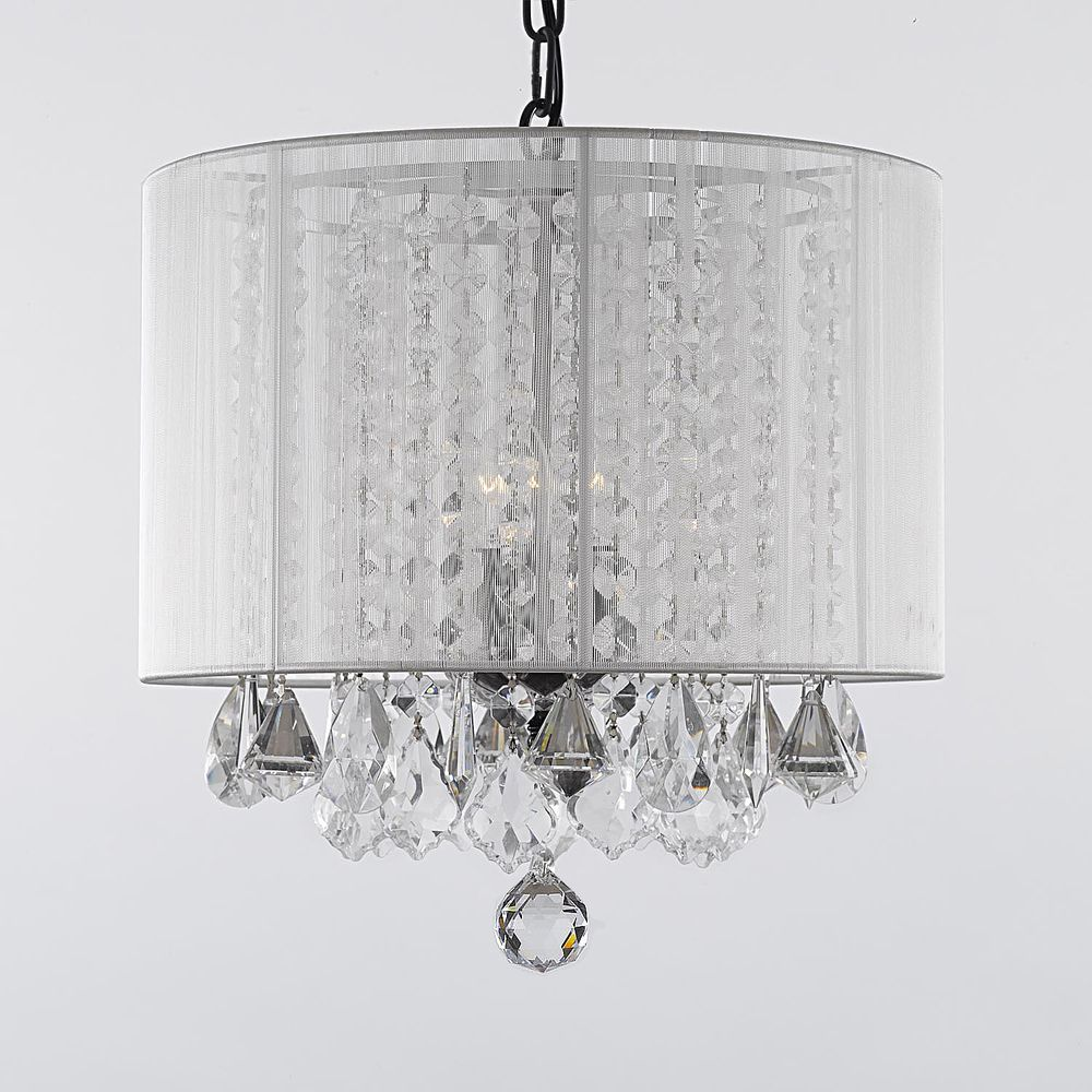 Gallery 3-light Crystal Chandelier with Shade | Overstock.com ...