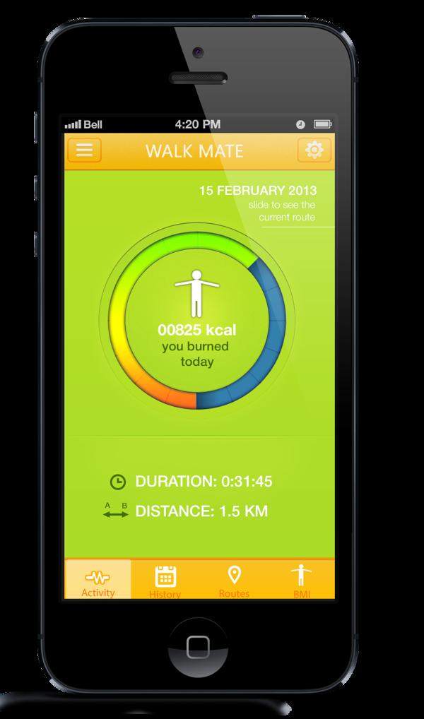 WALK MATE App for IPhone by Dmitry Kornushin, via Behance