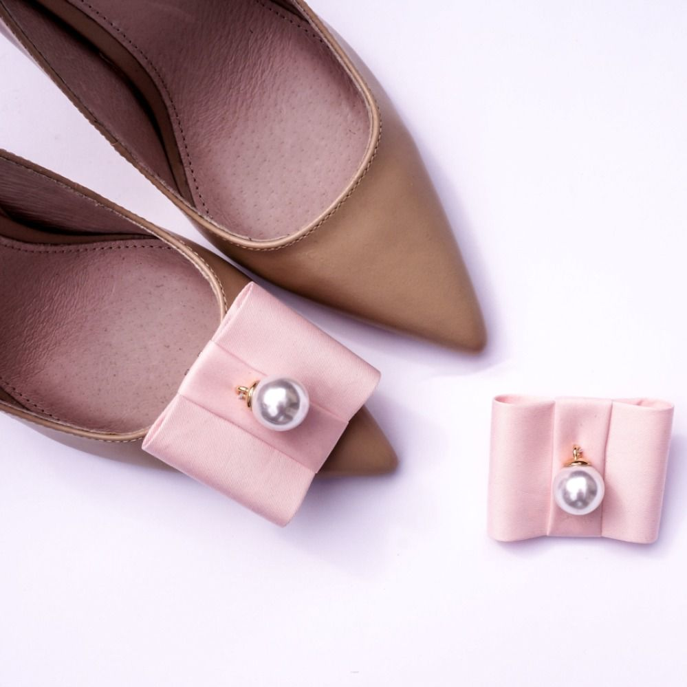 Shoe Clips By Coquet Flat Bows Powder Pearl Shoe Clips Bow Flats Handmade Shoes