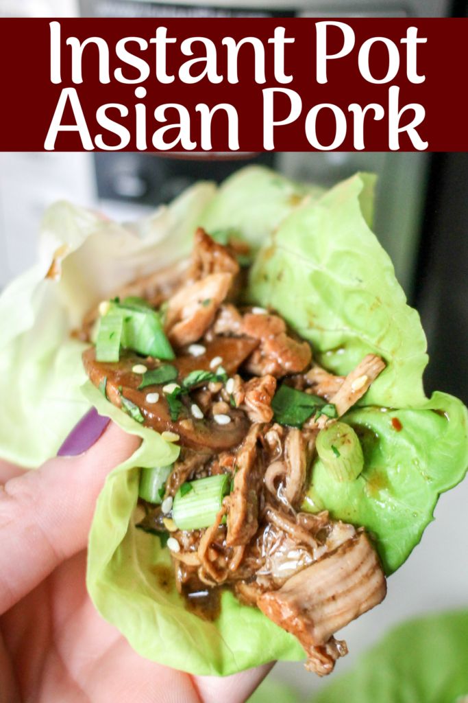 This Instant Pot Asian Pork Recipe Cooks Up In Just Minutes And Is The Perfect Healthy Dinner Use Asian Pork Recipes Pork Recipes Instant Pot Dinner Recipes