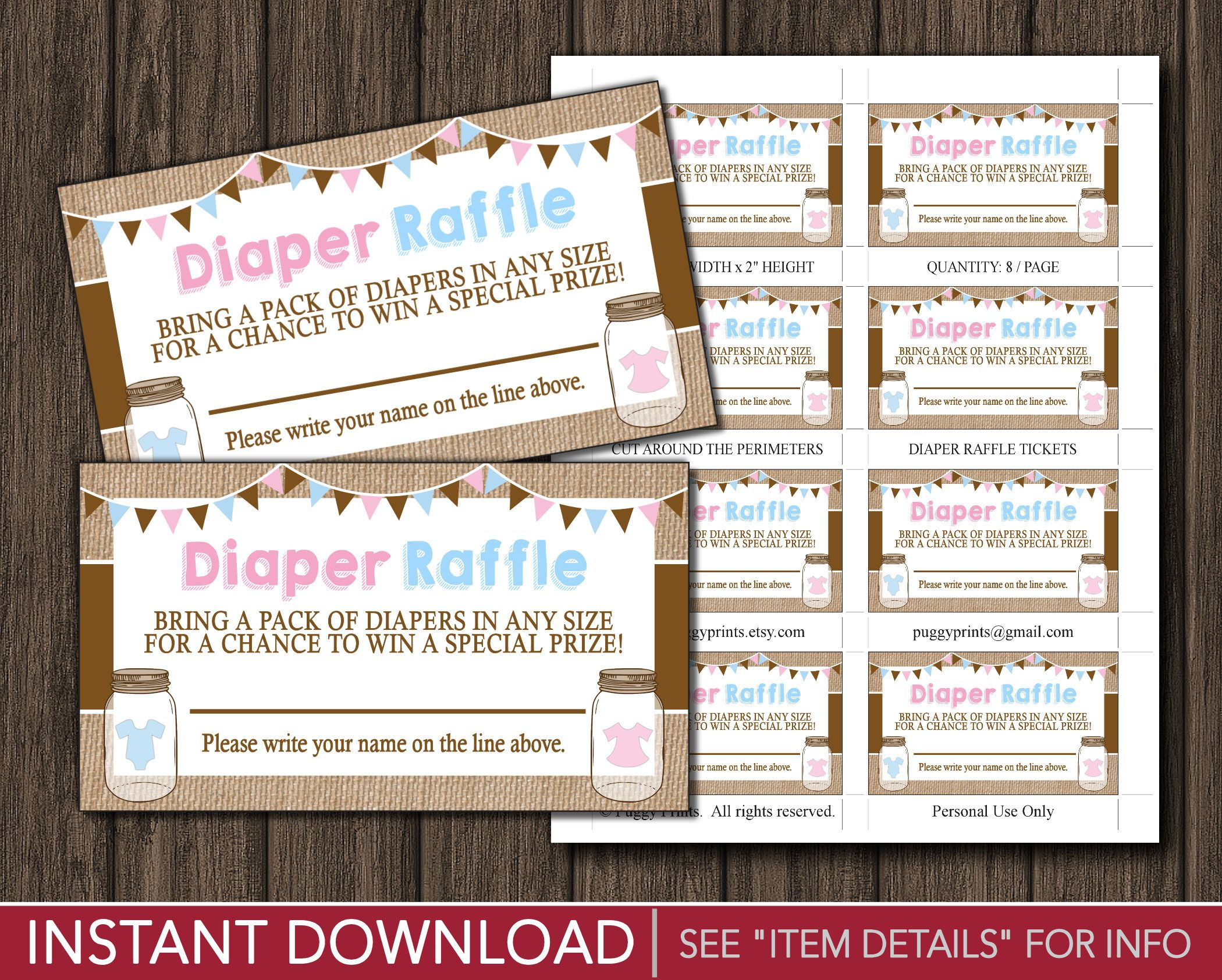 baby shower bbq invitation templates%0A BaByQue Diaper Raffle Tickets  BBQ Twins Baby Shower Diaper Raffle Cards   Printable Digital File  INSTANT DOWNLOAD