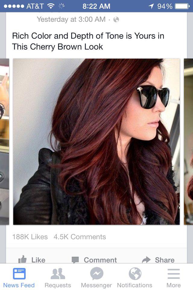 #LOVE IT! #CherryBrown | Hair color auburn, Dark auburn ...