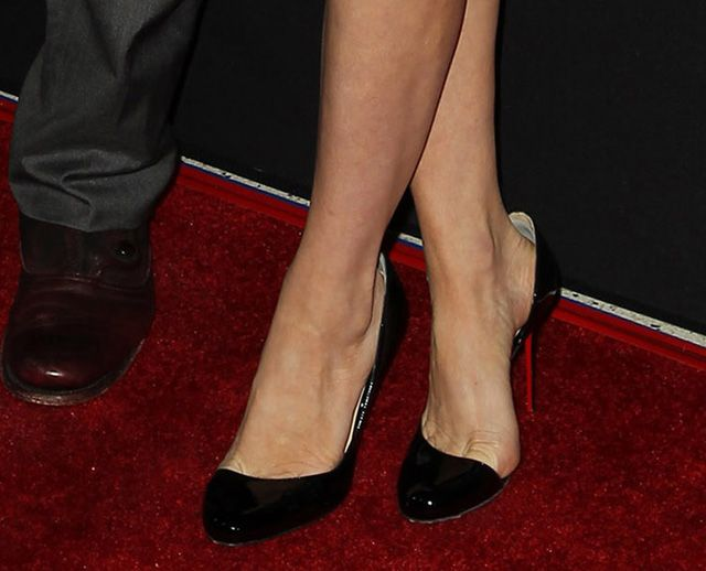 e6777dbe8f9 Brittany Snow wears black Christian Louboutin Helmour D Orsay Pumps to the  premirere of