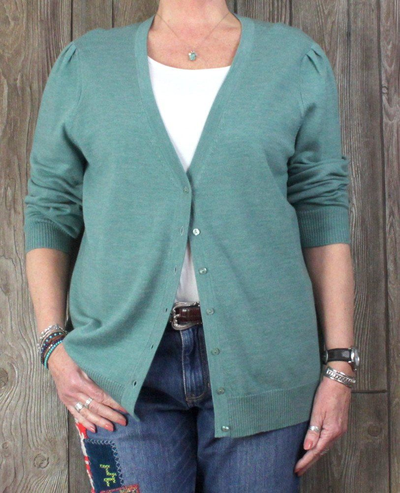 Lord & Taylor 2x size New Cardigan Sweater Sea Foam Green Plus ...