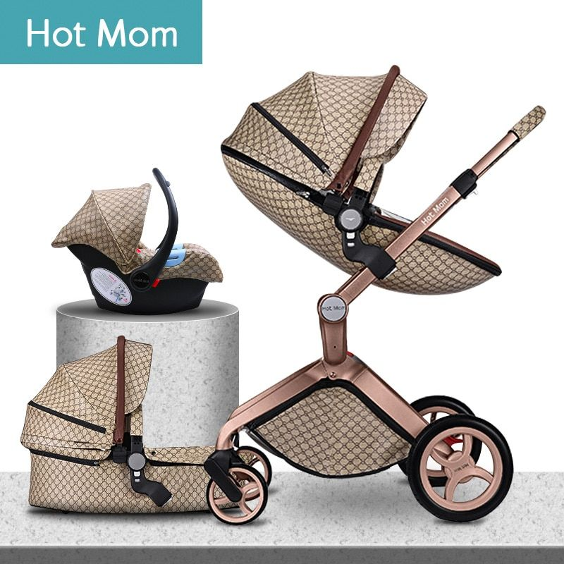 HOTMOM Aluminum alloy frame European luxury baby stroller