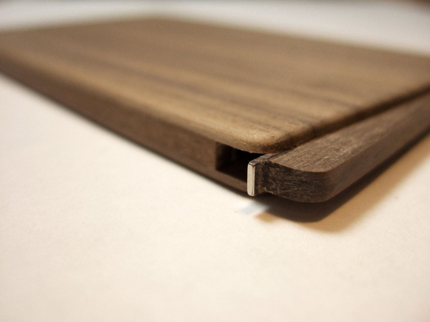Wood business card holder. slim. walnut | Wood business cards ...