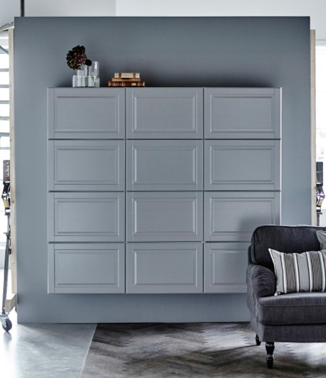 7 big ikea home hacks that make huge wall statements on wall cabinets id=60451