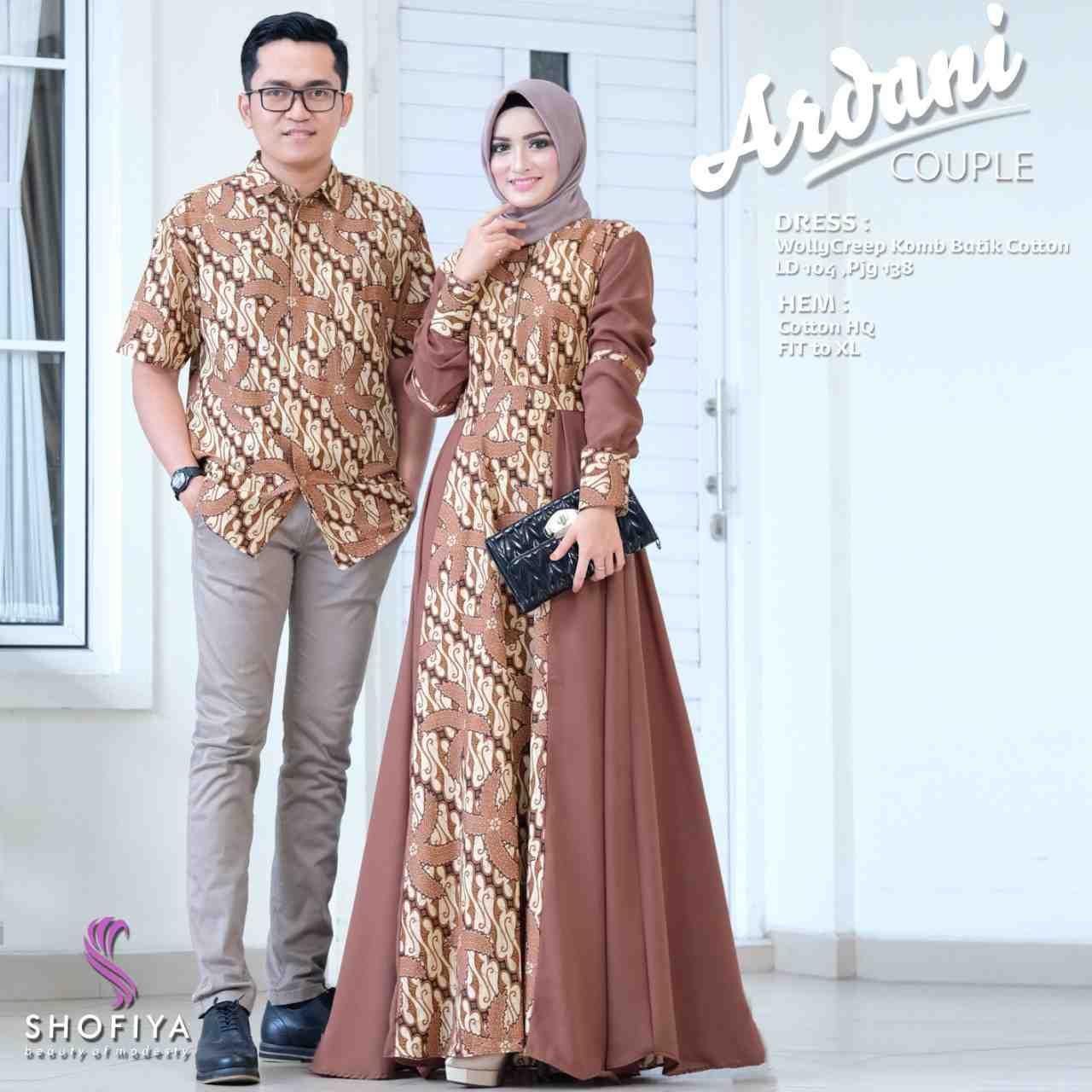 Model Baju Batik Couple Terbaru di 11  Model pakaian muslim