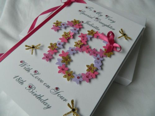 Handmade Personalised Birthday Card 18th 20th Any Age Daughter Son Dad Gift BJ
