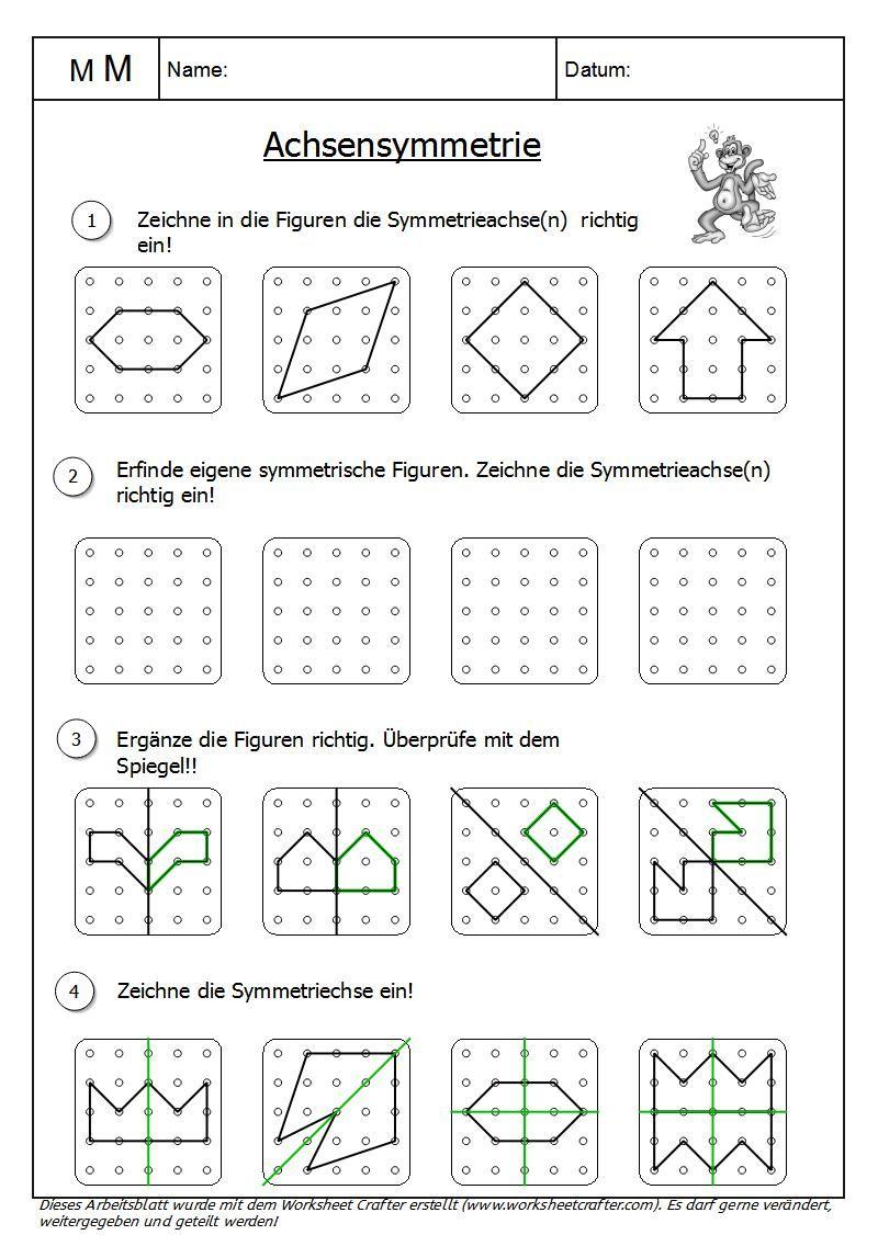 OwlMail - Achsensymmetrie_am_Geobrett | Mathe | Pinterest | Math