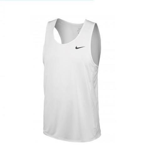 07c17b009f Nike Men Miler Dry Lightweight Sleeveless White Tank Top Shirt M L XL  835873-100  Nike  ShirtsTops