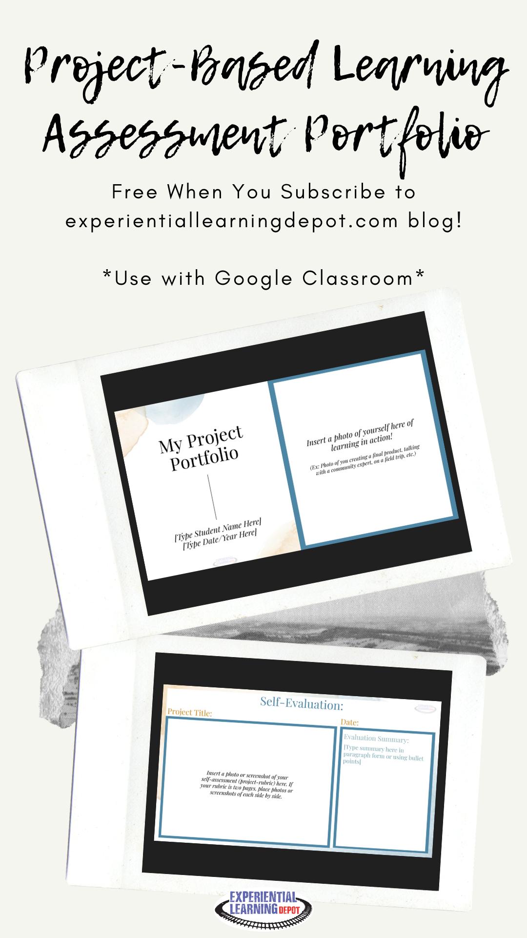 Project Based Learning Assessment Portfolio For