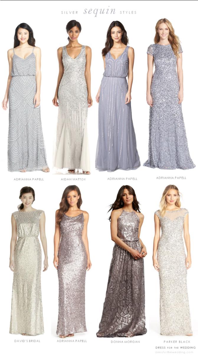 Silver Sequin Bridesmaid Dresses   Pinterest   Sequin bridesmaid ...