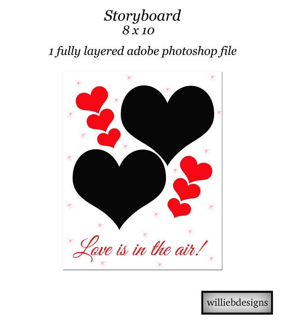 Instant Download. Love storyboard template. Album template for ...