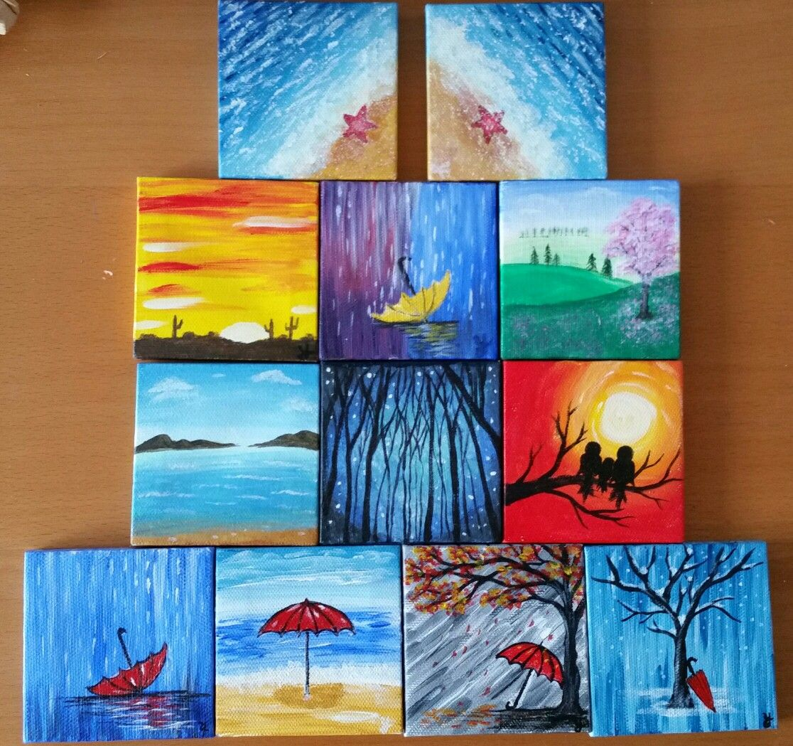 Mini Canvas Cool Painting Ideas For Beginners We Bring The Best Canvas Painting Ideas For Beginners Who Has That Artist To Throw Colors On The Sheet Portraying The Thoughts Running Into