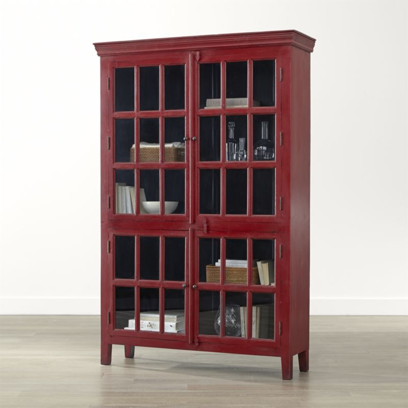 Display And Store Your Stuff In Style With Storage Cabinets From Crate Barrel Shop