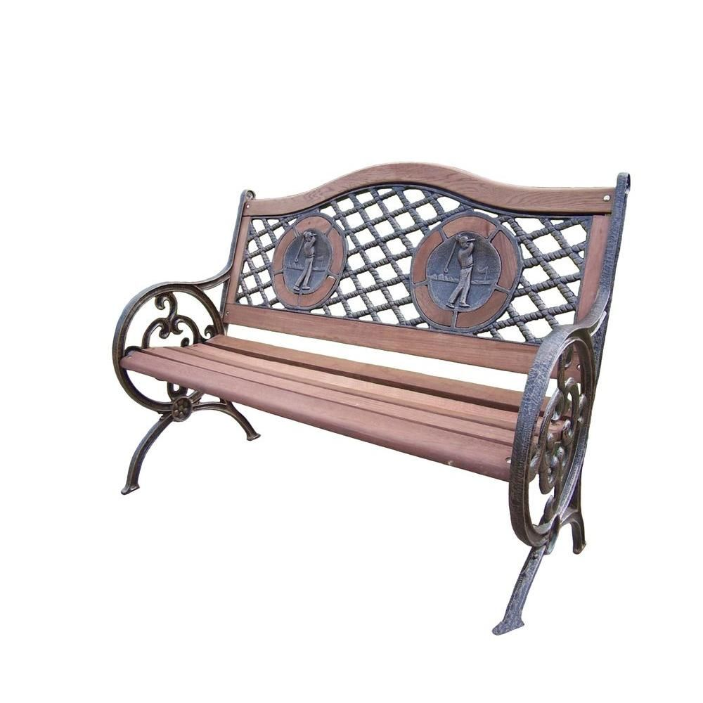 Oakland Living Double Golfer Patio Bench