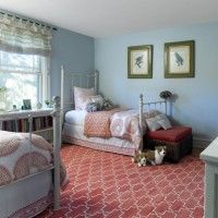 Dilwyne Designs - bedding by John Robshaw and Serena & Lily, rug by Madeline Weinrib, parrot prints look just like our parrot!