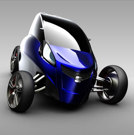 Vila Masana Mas Viu 3 Wheel Car Futuristic Vehicle