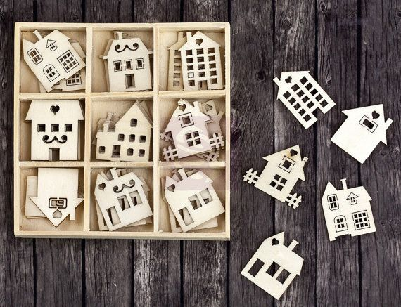 New Prima Quot Wooden Icons In A Box Quot Houses And Buildings
