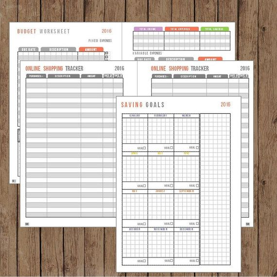 a5 size planner inserts printable planner budget planner online shopping tracker bills and payment tracker budget worksheet debt tracker