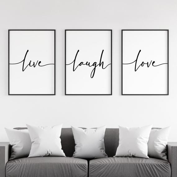Live Laugh Love Print Bedroom Wall Art Set Of 3 Prints Etsy Bedroom Wall Art Bedroom Wall Love Wall