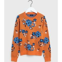 Photo of Gant Marine Paisley Strickpullover (Orange) GantGant