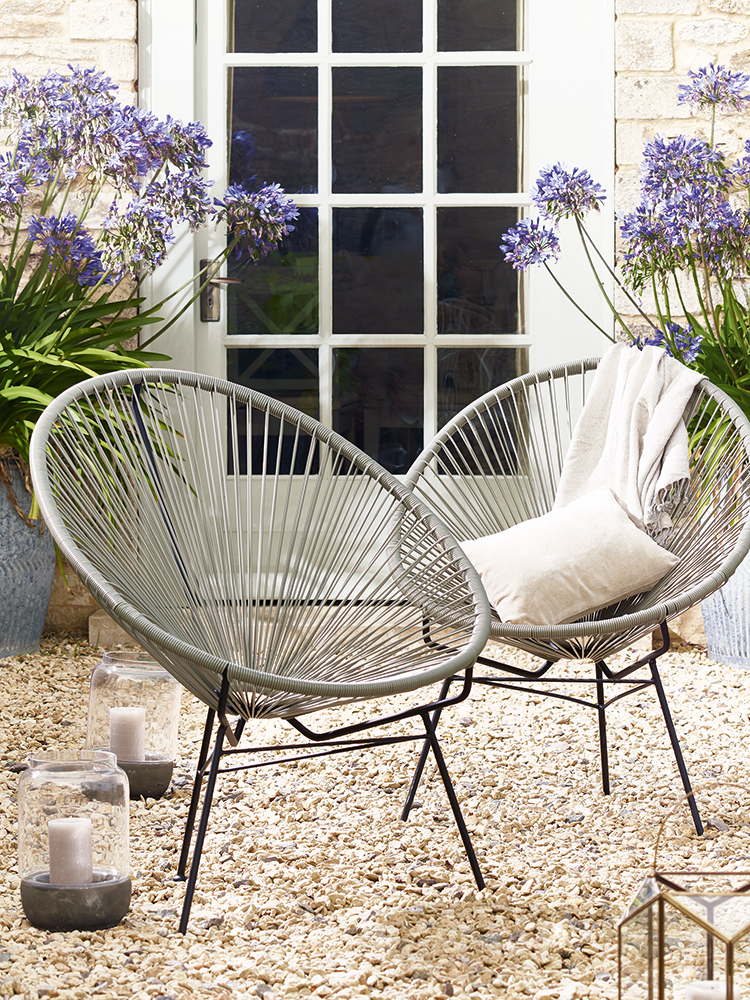 inspired by 1950s acapulco chairs our classic string chair has been woven from high quality