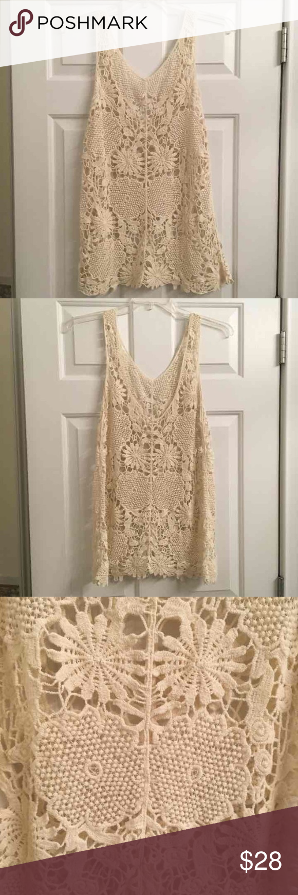 Lace dress cover up  Brandy Melville Crochet Lace Cover Up  Brandy melville Crochet