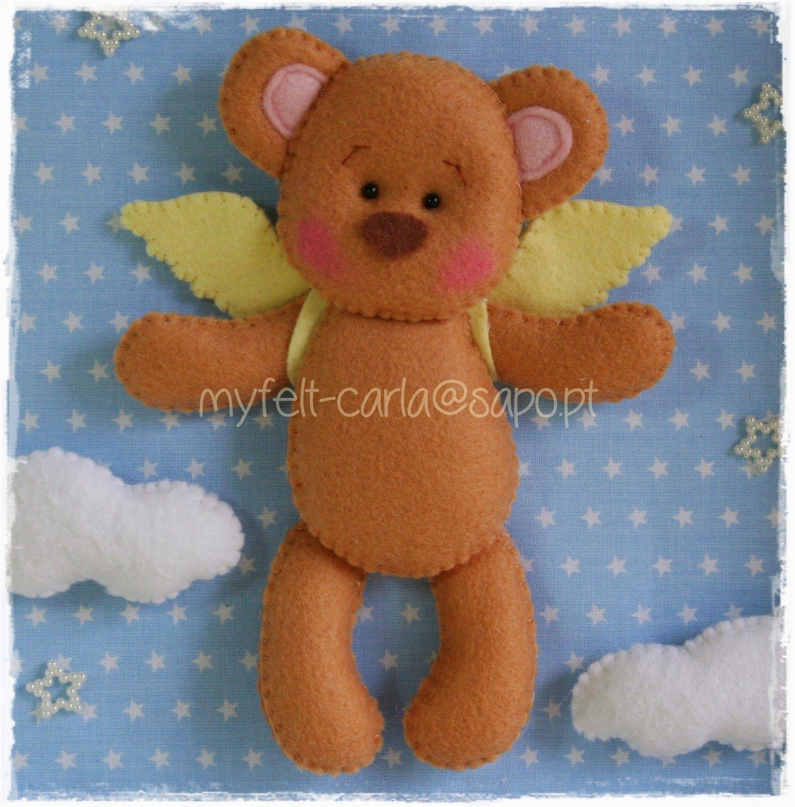 osito-angel (para cuadro)   xiomara   Pinterest   Filz, Frühchen und ...
